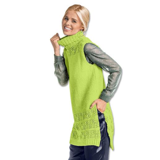 Anleitung 200/7, Damen Longpullunder aus Fluffina von Junghans-Wolle