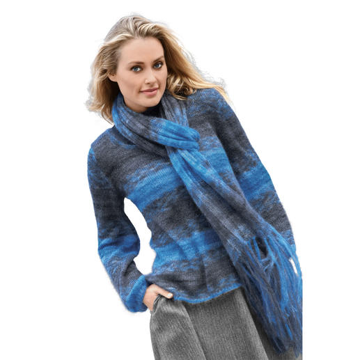 Anleitung 288/8, Pullover mit Schal, ca. 50 x 180 cm aus Linie 98 Carlton Design Color von ONline