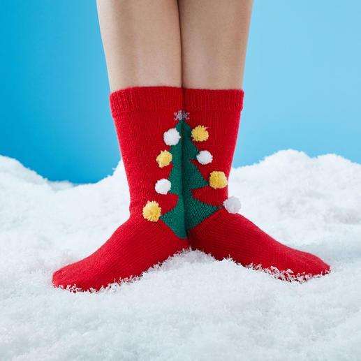 Anleitung 447/8, Socken mit Weihnachtsbaum aus Regia Uni, 4-fädig von Schachenmayr