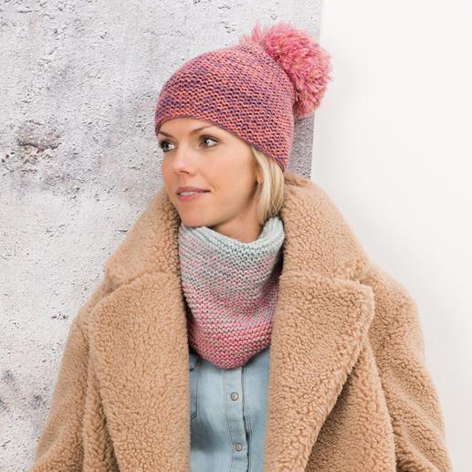 Anleitung 459/8, Mütze & Loop aus Creative Wool Dégradé Super 6 von Rico Design