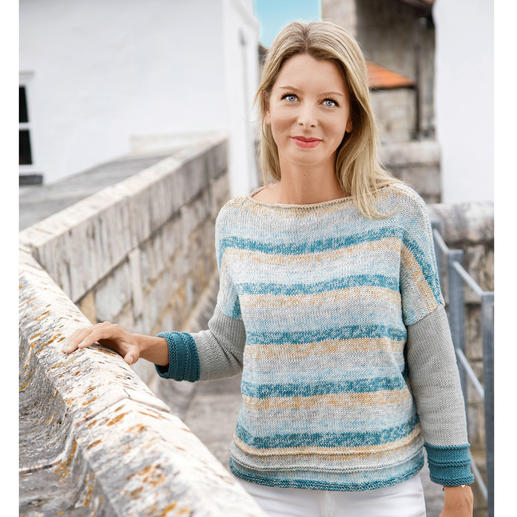 Anleitung 026/9, Damenpullover aus Cotton Soft Color und Uni von Gründl