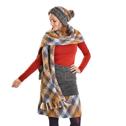 Anleitung 394/9, Rock, Mütze und Schal aus Plan und Sheep von Woolly Hugs