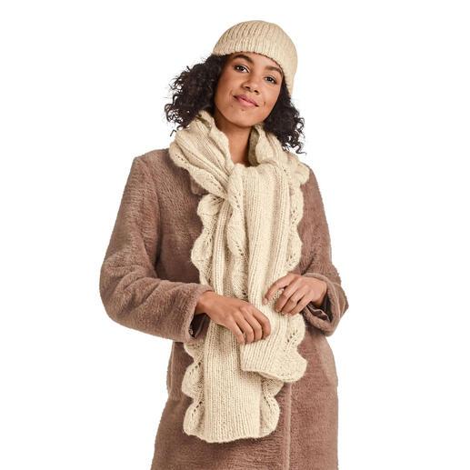 Anleitung 197/0, Schal und Mütze aus Alpaca-Cotton von Junghans-Wolle