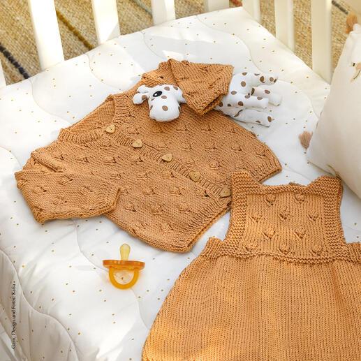 Anleitung 385/0, Babyjacke aus Cotton-Cashmere von Katia