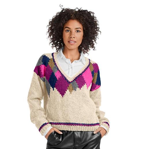 Anleitung 412/0, Pullover aus Monello-90 Uni von Junghans-Wolle
