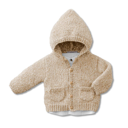 Anleitung 428/0, Baby-Kapuzenjacke aus Phil Alpaga Coton von phildar