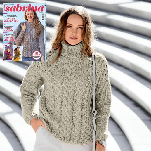 Anleitung 434/0, Pullover aus Merino-Cablé von Junghans-Wolle
