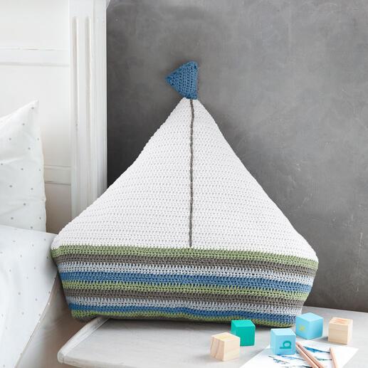 Anleitung 009/1, Segelschiff aus Basic-Cotton von Junghans-Wolle