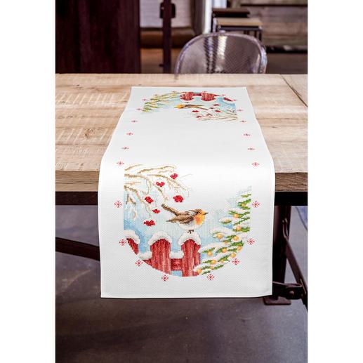 Aida-Tischläufer - Rotkehlchen