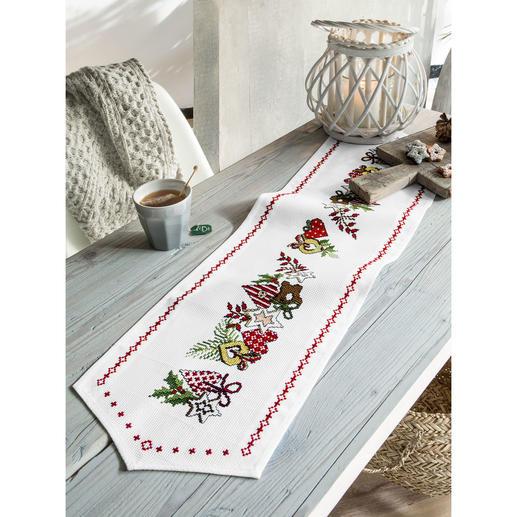 Tischläufer - Weihnachts-Ornamente