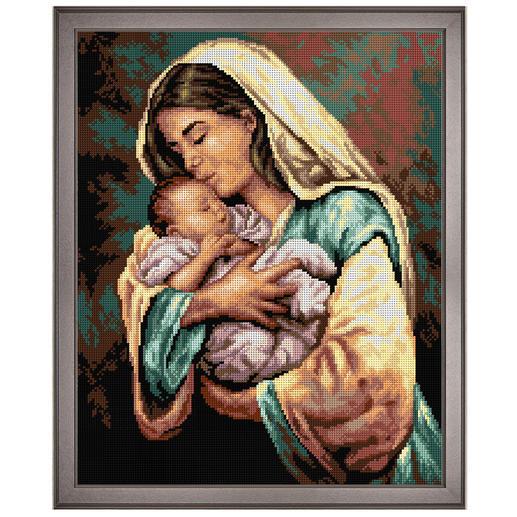 Klassisches Gobelinbild - Mutter & Kind