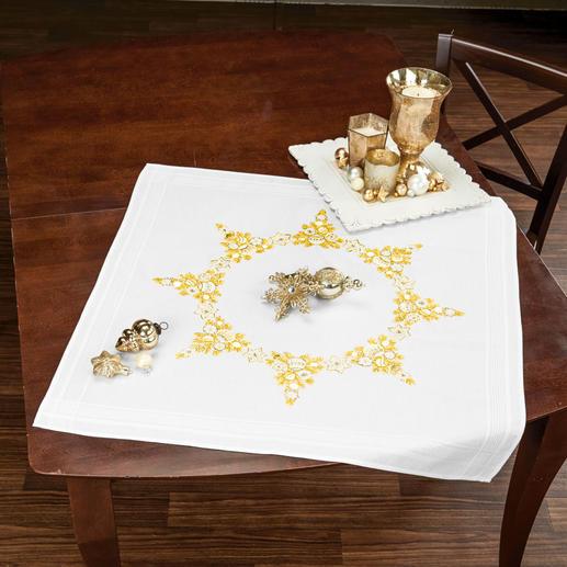 Goldene Ornamente, Tischdecke