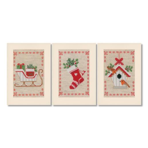 3 Weihnachtskarten mit Umschlägen im Set