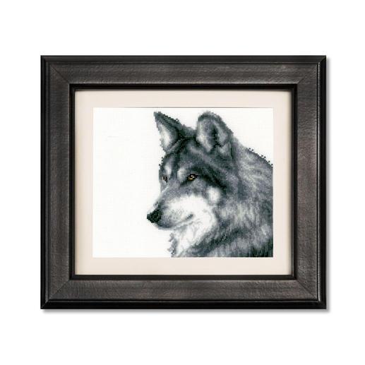 Kreuzstichbild - Wolf