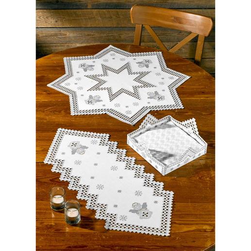 Hardanger Sterndecke, Tischläufer oder Serviettenhalter