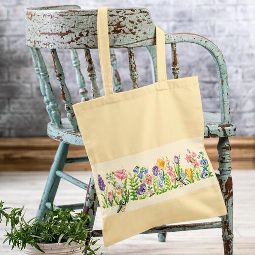 Baumwolltasche - Frühlingsblumen