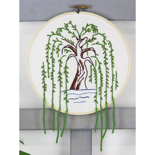 Stickbild - Weidenbaum