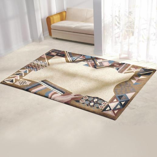 Teppich - Orissa Teppiche – mit geflammter Wolle geknüpft. Aus Berber- und Smyrna-Wolle.