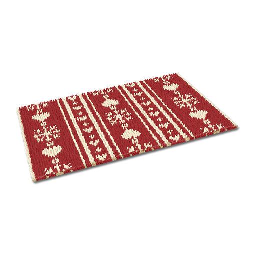 Fußmatte - Christkindl, rot