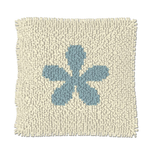 Knüpfkissen - Blue Flower