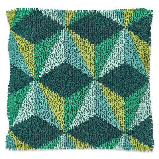 Kissen - Konga, Grün/Gelb, B-Ware