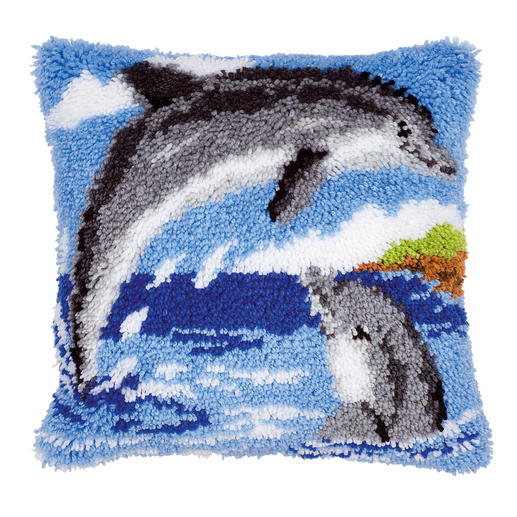 Knüpfkissen - Delfine