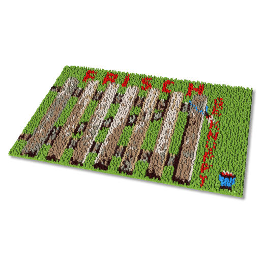 Fußmatte - Frisch geknüpft