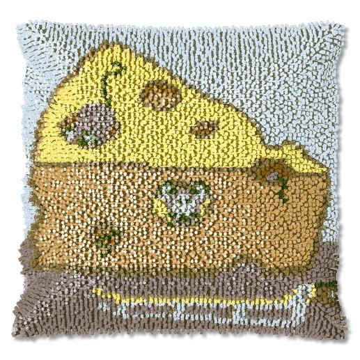 Knüpfkissen - Käse-Mäuse, B-Ware