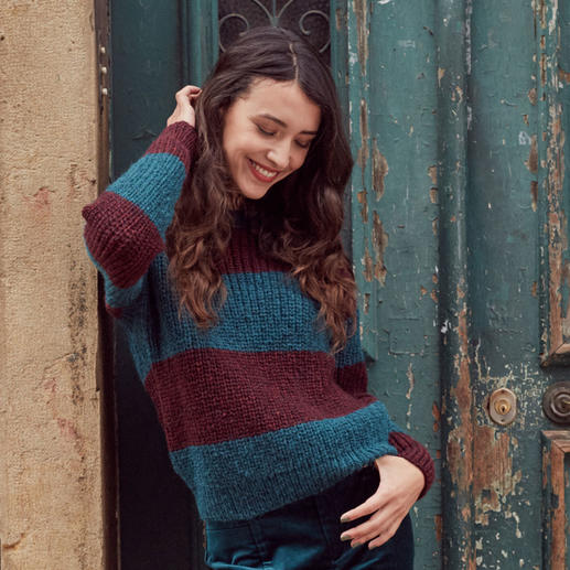 Anleitung 026 Hidden Feelings, Pullover aus Respect von WOOLADDICTS by Lang Yarns
