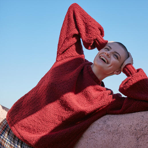 Anleitung 020 Laugh Lots, Pullover aus Faith von WOOLADDICTS by Lang Yarns