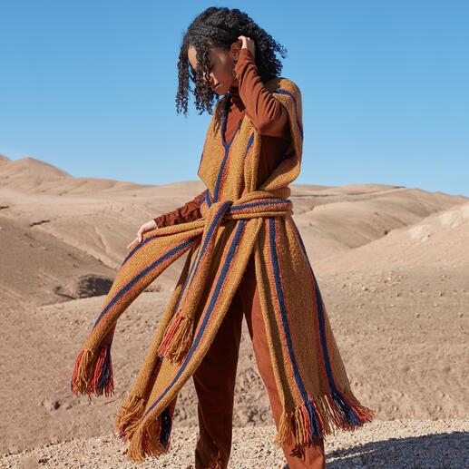 Anleitung 031 Pocahontas' Pride, Poncho aus Air von WOOLADDICTS by Lang Yarns