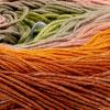 Hellblau-Kaki-Rose-Orange