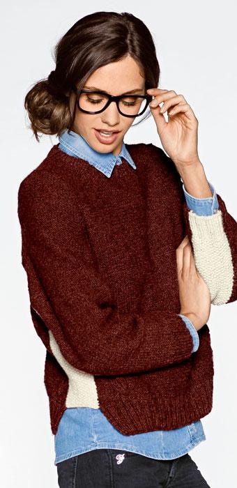 Pullover aus Flip von Junghans-Wolle.